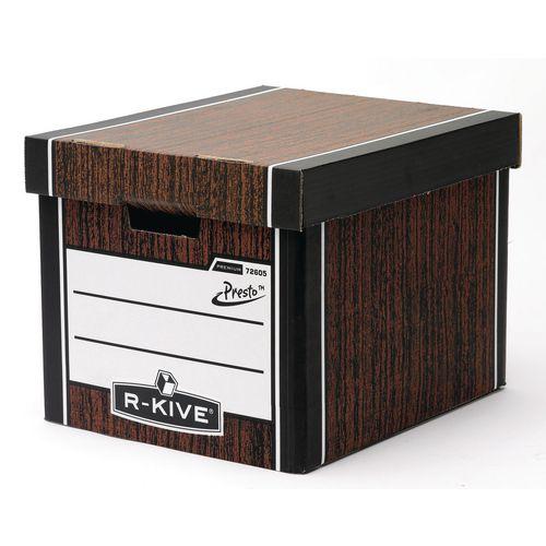 Premium Presto Tall Storage Box Woodgrain HxWxD mm: 303x342x400