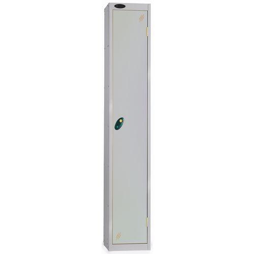 1 Door Locker With Coin Retain Lock Silver Body Silver Door Hxwxd: 1778x305x380mm