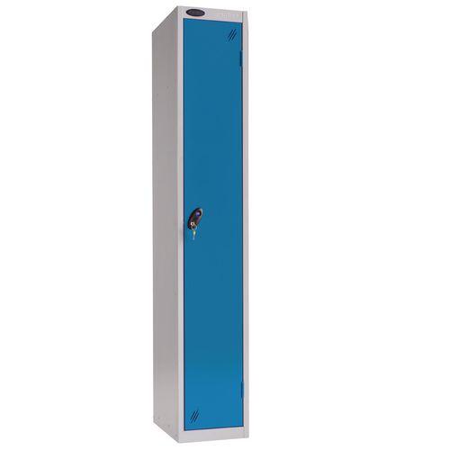 1 Door Locker With Coin Retain Lock Silver Body Blue Door Hxwxd: 1778x305x380mm