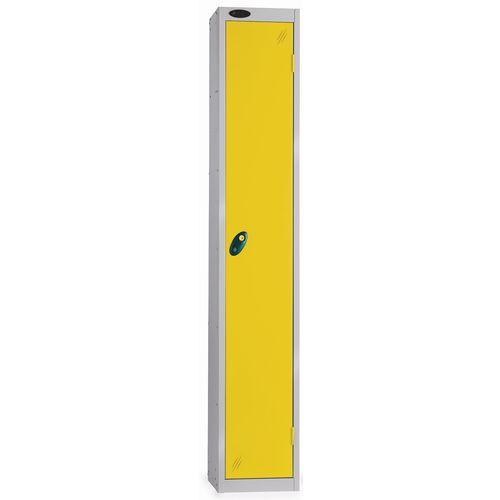1 Door Locker With Coin Retain Lock Silver Body Yellow Door Hxwxd: 1778x305x380mm