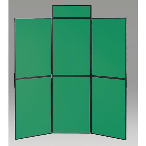 Aluminium Frame Folding Display Including Carrier Bag Black &Green Plastic &Aluminium 6 Panel