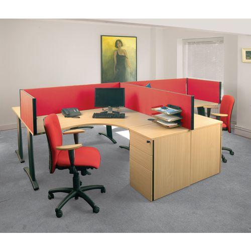 Busyscreen Desk Top Rectangular Screen Red Wxdxh: 32x1600x400