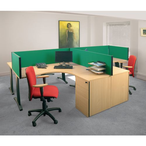 Busyscreen Desk Top Rectangular Screen Green Wxdxh: 32x1600x400