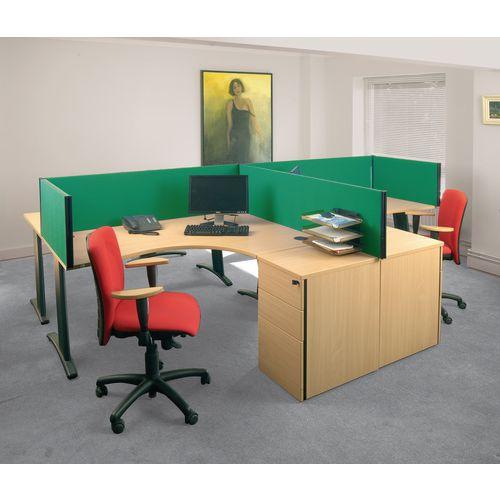 Busyscreen Desk Top Rectangular Screen Green Wxdxh: 32x1400x400