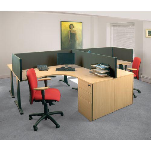 Busyscreen Desk Top Rectangular Screen Dark Grey Wxdxh: 32x1400 X