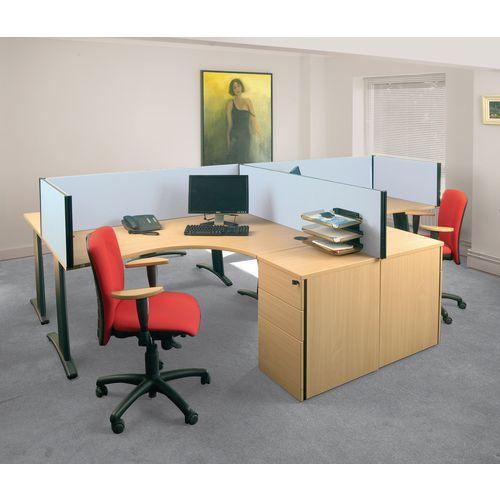 Busyscreen Desk Top Rectangular Screen Light Grey Wxdxh: 32x1200 X