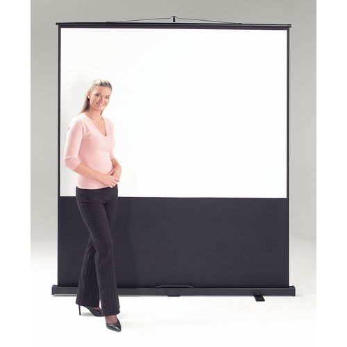 Leader Portable Floor Screen Video Format White Cloth Black Case Wxdxh: 70