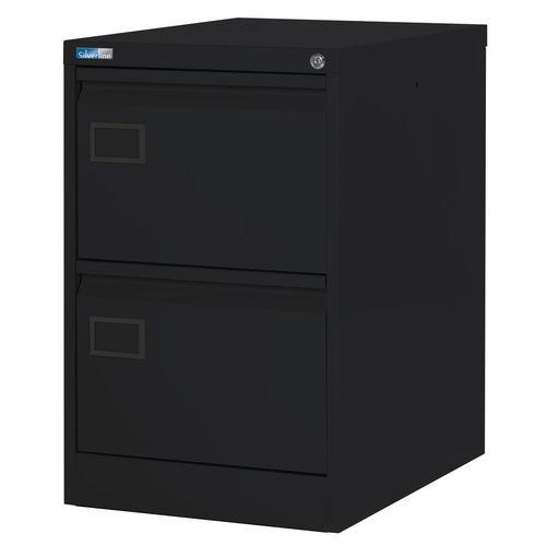 Filing Cabinet Exec Black Steel HxWxD: 711x458x622mm
