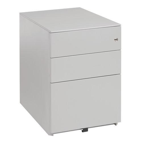 Beam High Ped (2+1) 600H 420W 570D Silver Ral9006