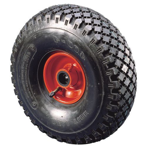 355mm Pneumatic Wheel 25.4mm Bore Roller Bearing 185Kg Load Capacity