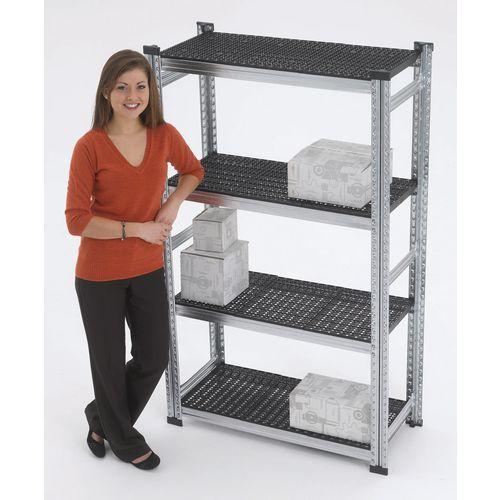 Simply Super Starter Bay Black Plastic Shelves