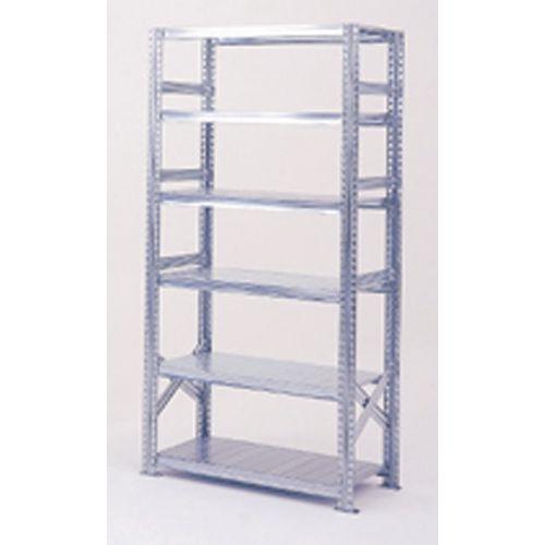 Zinc Plated Boltless Steel Shortspan Shelving Starter Bay HxWxD 2500x900x500mm - 6 Shelf Levels, 185kg Shelf Capacity