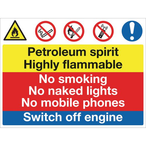 Sign Petroleum Spirit No Smoking 600x450 Vinyl