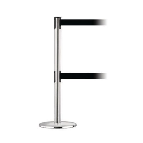Advance Dual Line Post In Polished Chrome With 2.3M Black Webbing