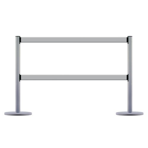 Tensaguide Dual Line Kit  2 Posts And 2 Beams  In Silver