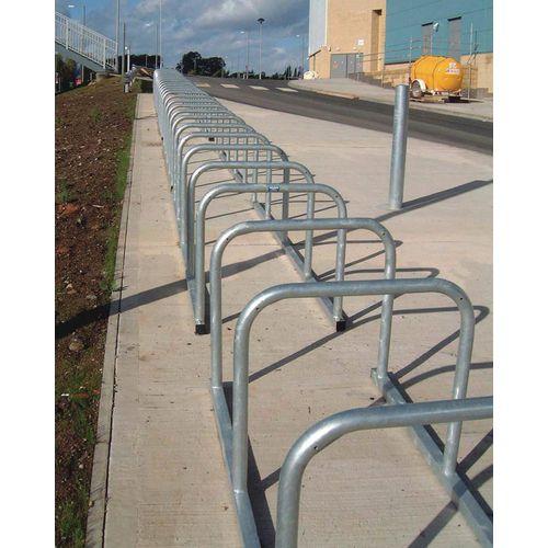 Sheffield Style Toast Rack Flanged Galvanised Steel 10 Bike Capacity