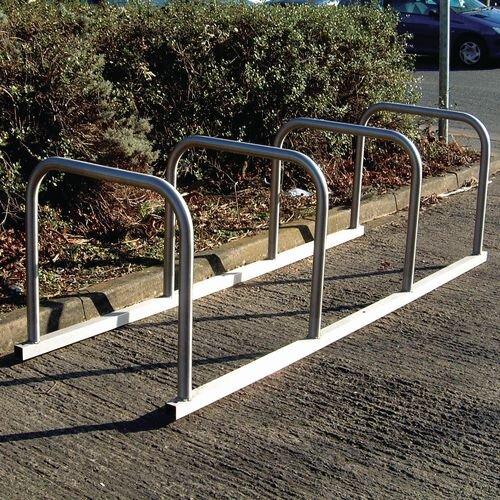 Sheffield Style Toast Rack Flanged Stainless Steel 8 Bike Capacity