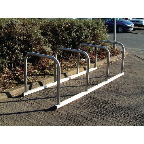 Sheffield Style Toast Rack Flanged Stainless Steel 10 Bike Capacity