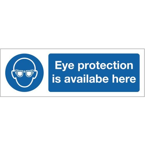 Sign Eye Protection Is Available 600x200 Vinyl