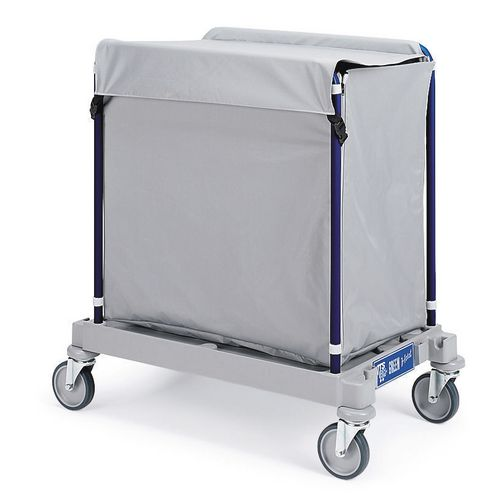 Plastic Based Linen Truck 300 Litres With Cover