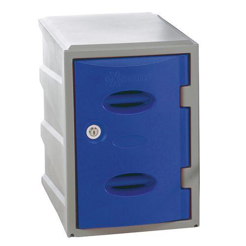 Im Plastic Locker 450Hx320Wx460mm deep Blue Key Lock