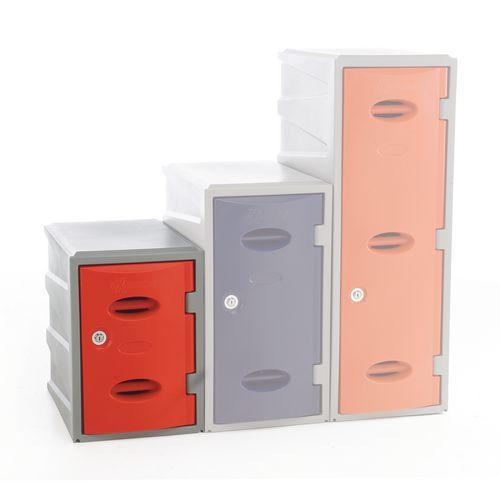 Im Plastic Locker 450Hx320Wx460mm deep Red Key Lock