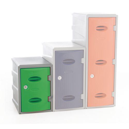 Im Plastic Locker 450Hx320Wx460mm deep Green Coin Return