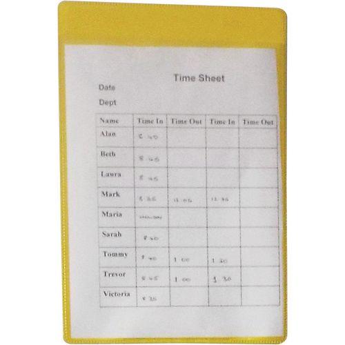 Self-Adhesive Yellow Document Pocket Id 310X215mm
