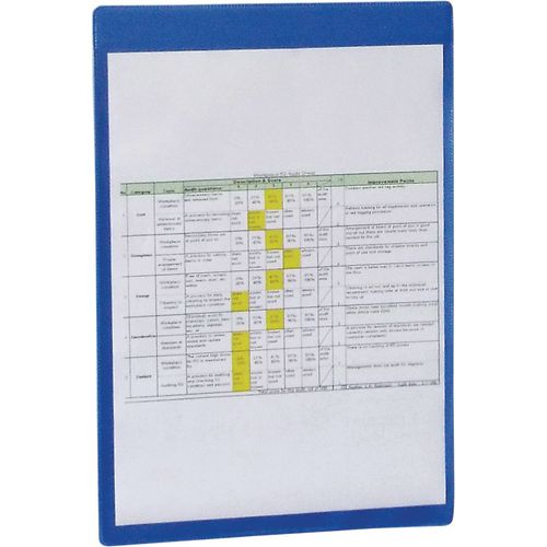 Self-Adhesive Blue Document Pocket Id 215X160mm
