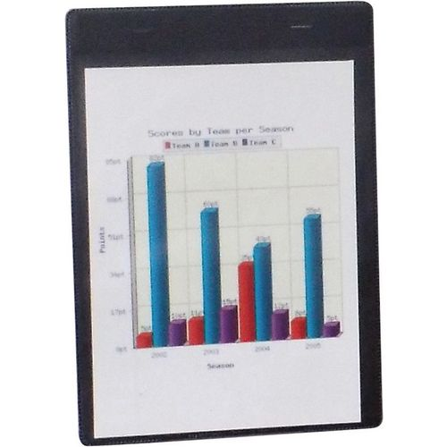 Self-Adhesive Black Document Pocket Id215X160mm
