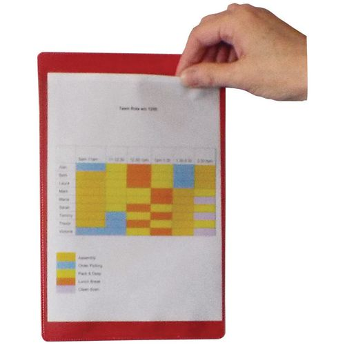 Self-Adhesive Red Document Pocket Id 215X160mm