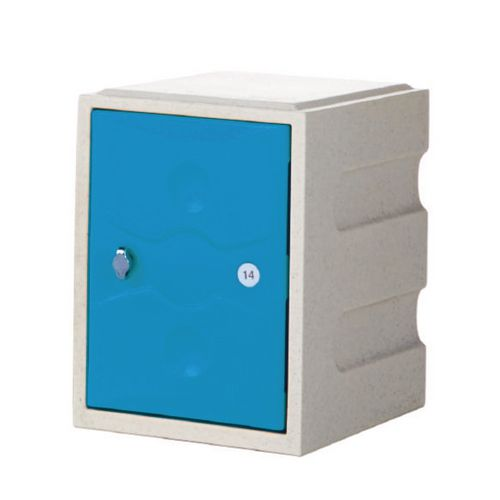 1 Door Mini Plastic Locker Plus Waterproof Blue Door