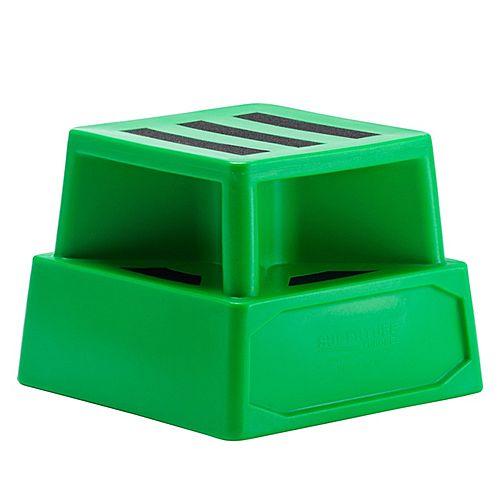 Heavy Duty Plastic Step Green
