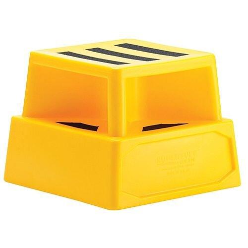 Heavy Duty Plastic Step Yellow