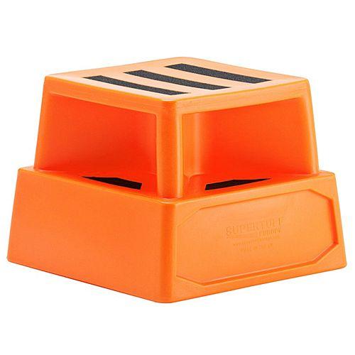 Heavy Duty Plastic Step Orange