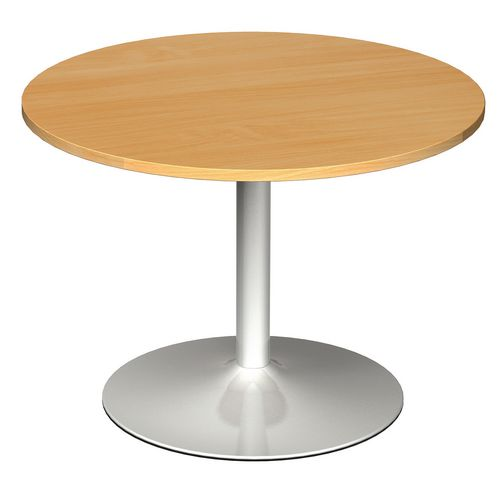 1000 Dia Circular Trumpet Base Boardroom Table 25mm Top Beech