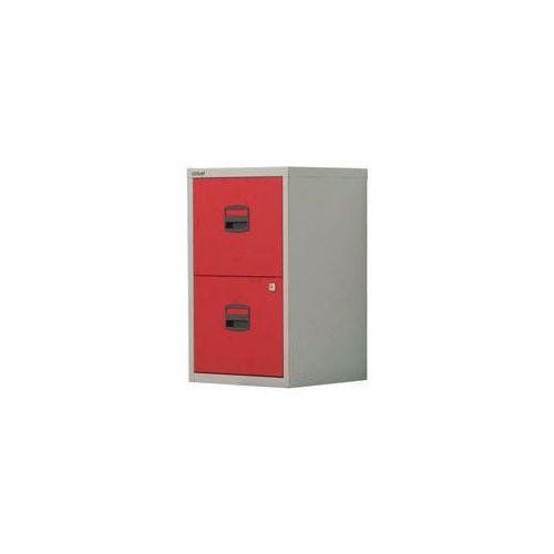 Bisley Pfa Home Filer 2xFiling Drawers Grey &Red