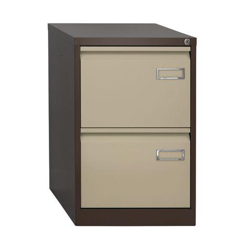 Bisley Psf Filing Cabinet 2 Drawer Coffee &Cream