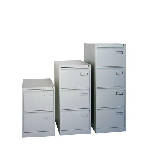 Bisley Psf Filing Cabinet 2 Drawer Goose Grey