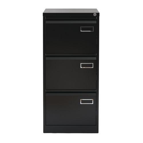 Bisley Psf Filing Cabinet 3 Drawer Black