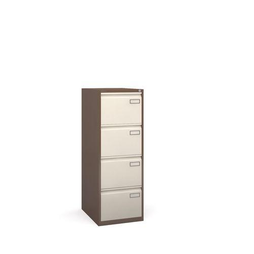 Bisley Psf Filing Cabinet 4 Drawer Coffee &Cream