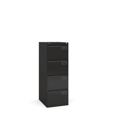 Bisley Psf Filing Cabinet 4 Drawer Black