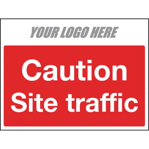 Sign Caution Site Traffic 600X400mm 10mm Correx