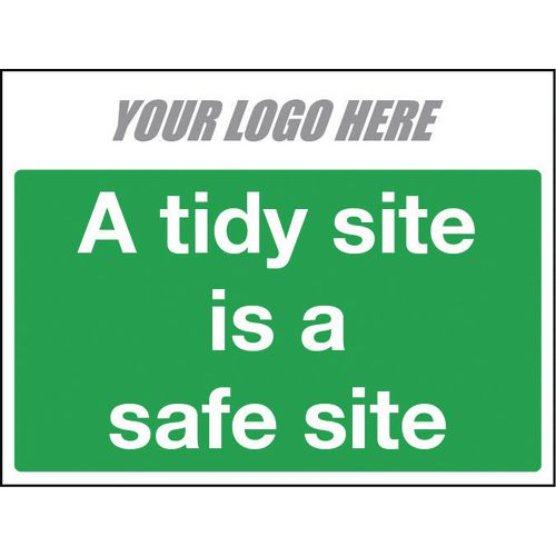 A Tidy Site Is A Safe Site 600X400mm 4mm Correx