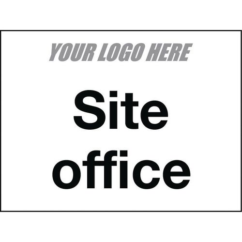 Sign Site Office 600X400mm 4mm Correx