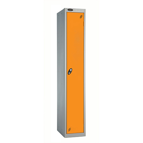 1 Door Locker D305mm Silver Body &Orange Door