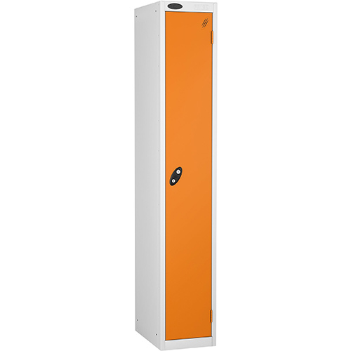 1 Door Locker D305mm White Body &Orange Door