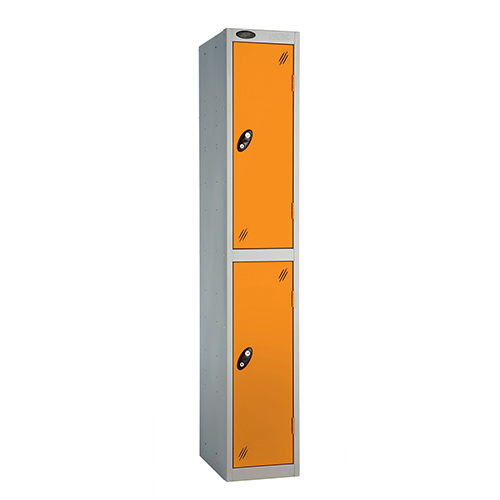 2 Door Locker D:457mm Silver Body &Orange Door