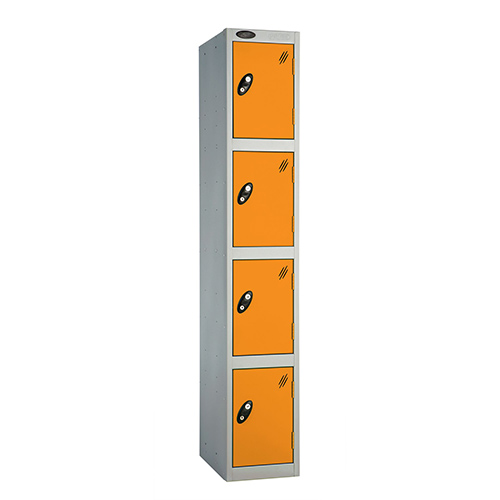 4 Door Locker D:457mm Silver Body &Orange Door