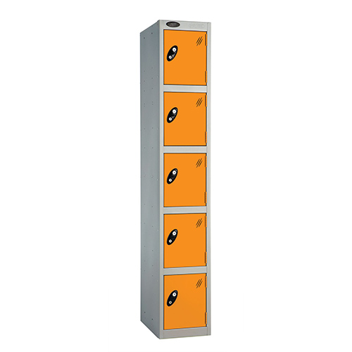 5 Door Locker D:457mm Silver Body &Orange Door